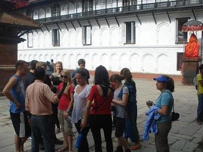 tourist in hanumandhoka
