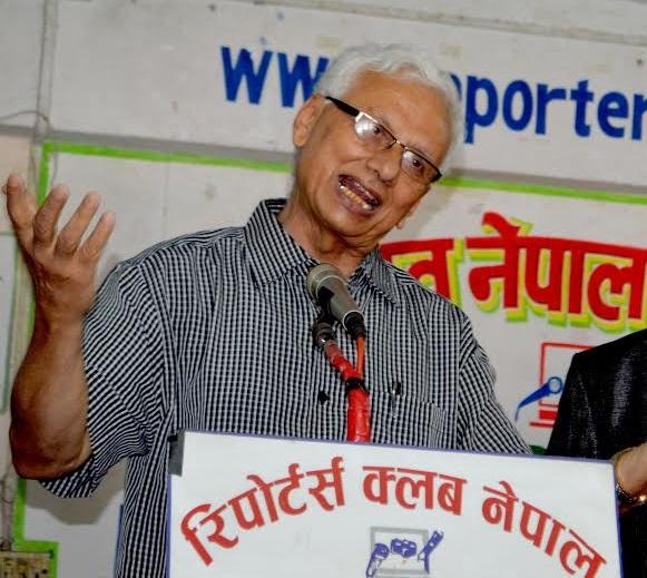 CP Gajurel at Reporters Club