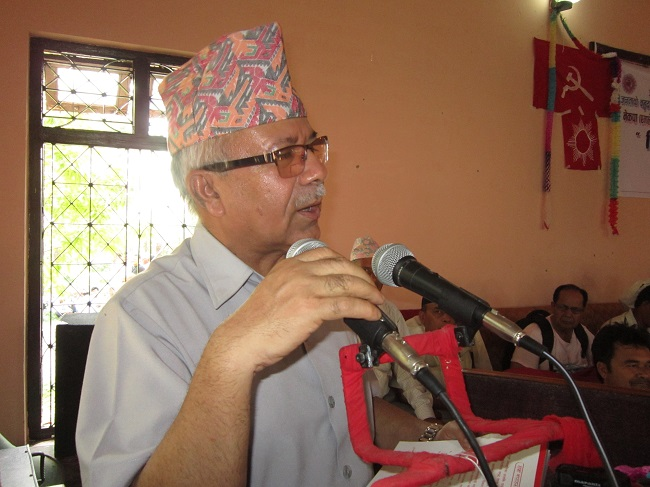 Madhavkumar Nepal in Dang