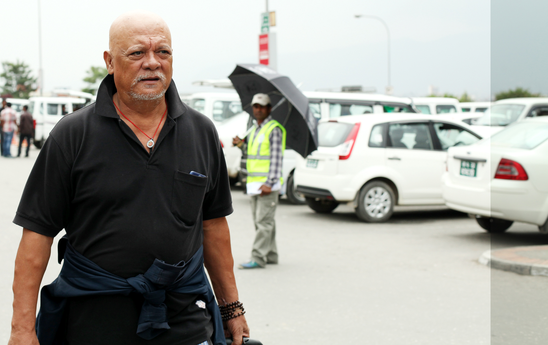 KS-KTM-Sunil Thapa Arrives 1