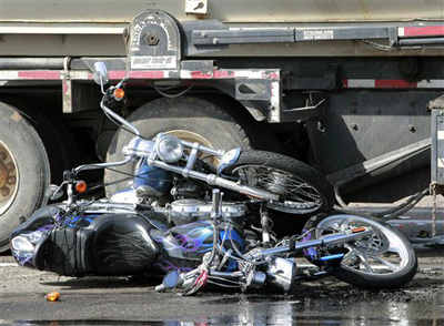 motercycle truck accident