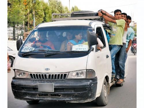 microbus-in-nepal