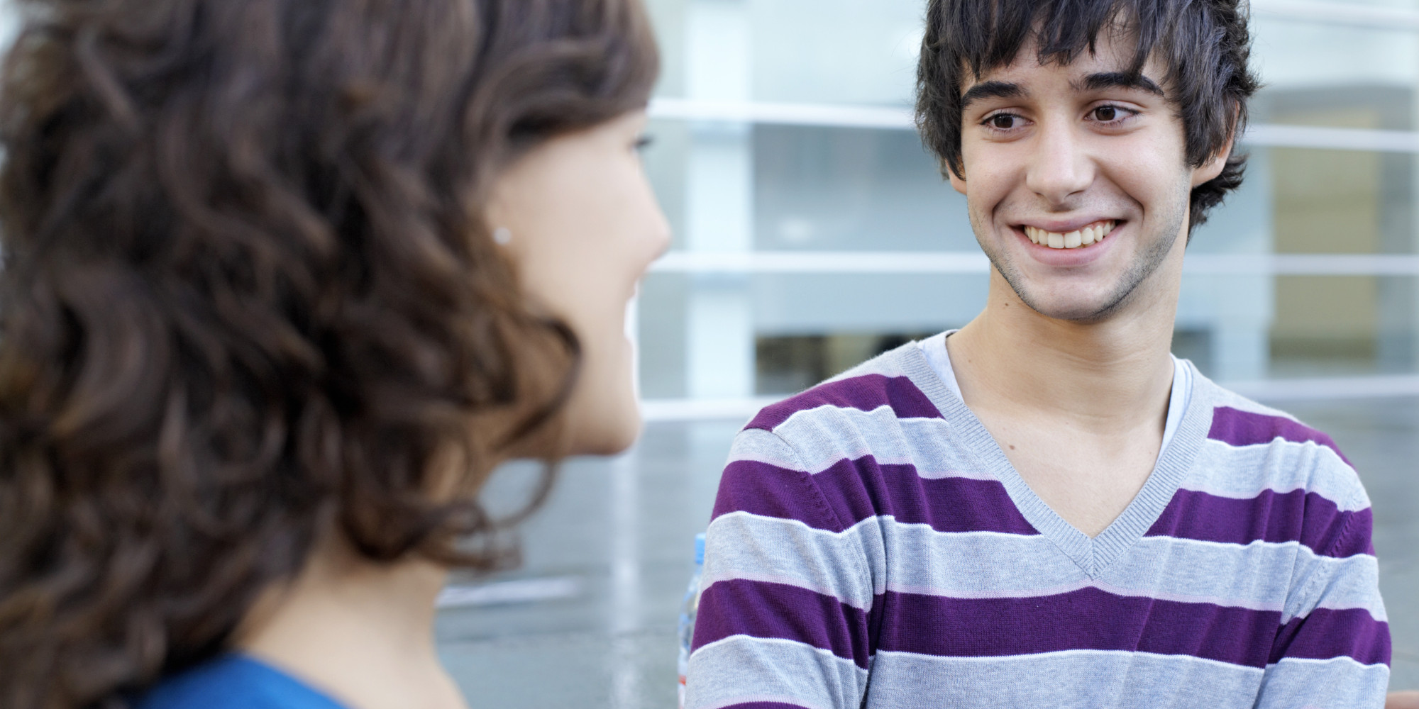 boy talking to girl