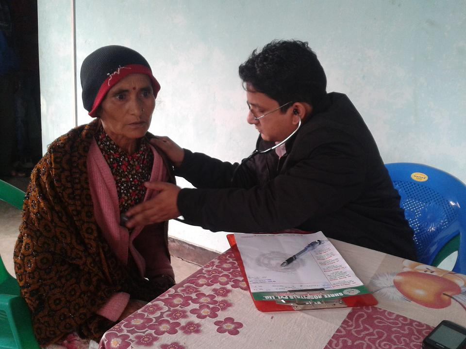 Health camp benefits more than 200 visitors in Pokhara