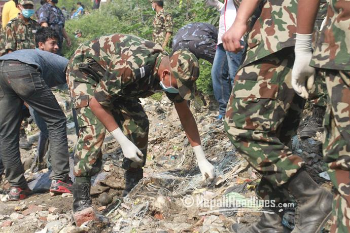 42 metric tonnes of solid waste extracted from Kathmandu rivers