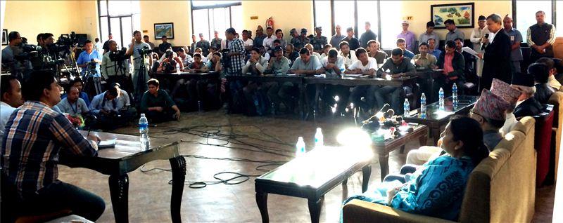 A Shot at Press Conference