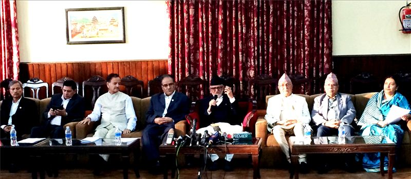 तीन दलद्वारा संयुक्त पत्रकार सम्मेलनको आयोजनाः वक्तव्य सहित