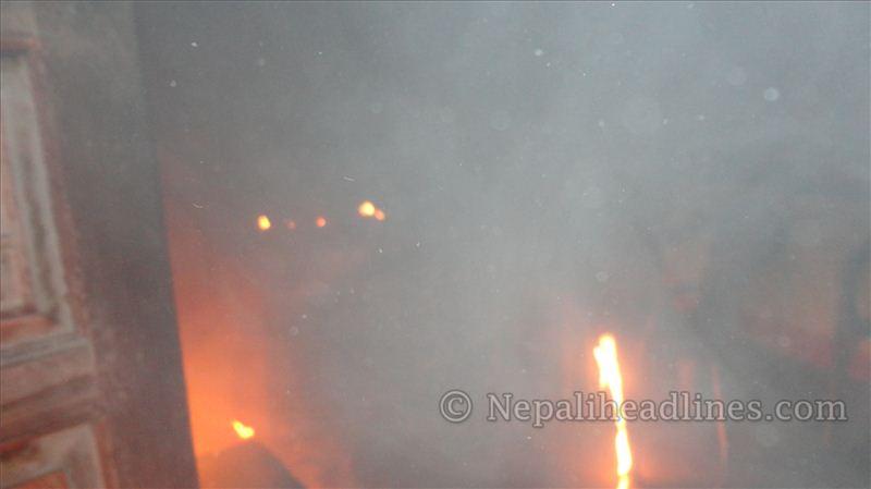 saptari congress party office fire (1)