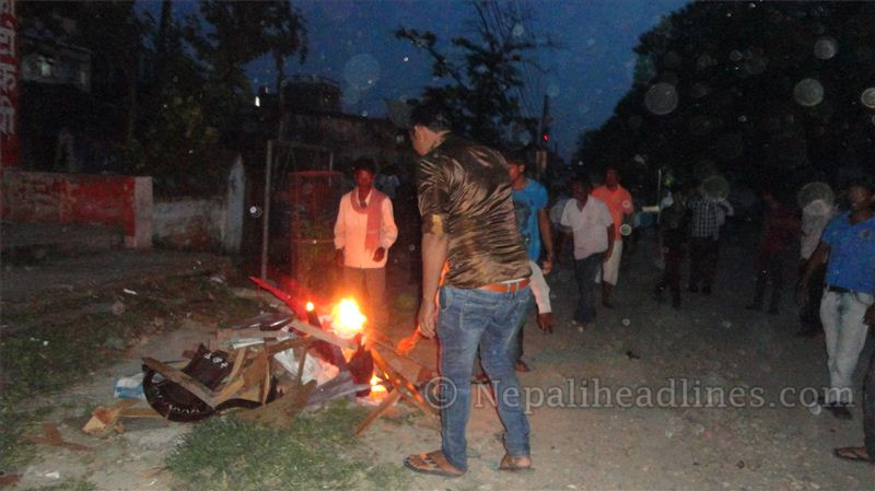 saptari congress party office fire (3)