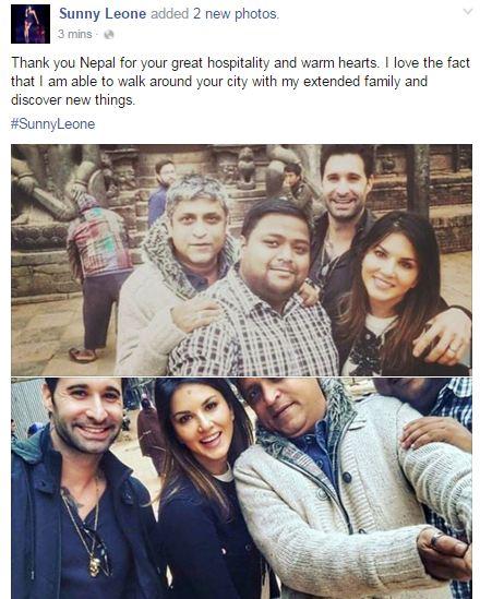 Sunny Leone in Ktm thanks Nepali