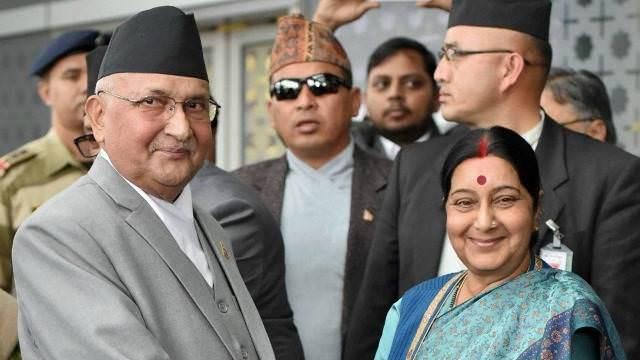 Kp oli sushma swaraj india nepal