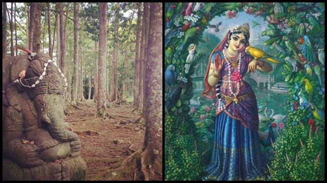 Tulsi (Brinda) and Ganesha