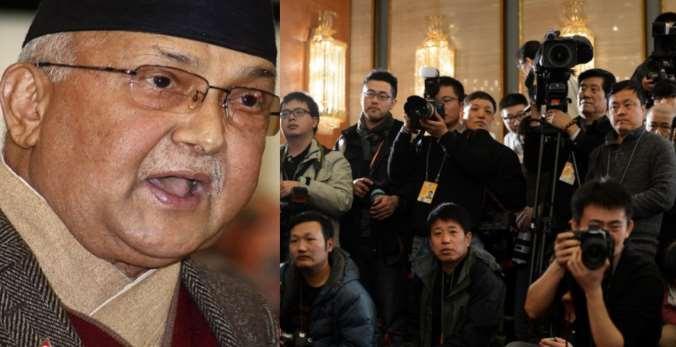 Oli chinese Journalists