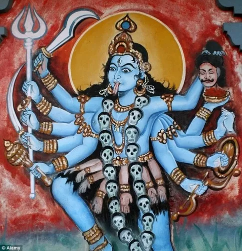 Why some Hindu Gods are blue in color 24989713