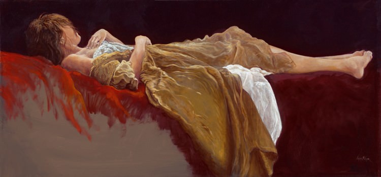 Woman Sleeping Painting