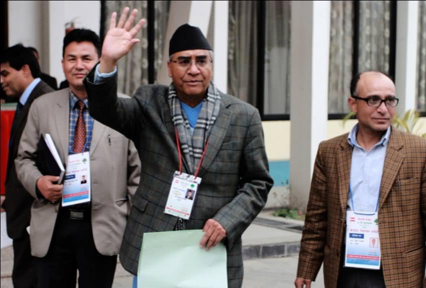 congress mahaadhivesan election day sher bahadur deuwa