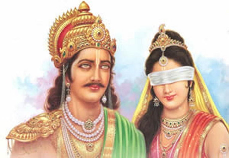 Dhritarastra and Gandhari