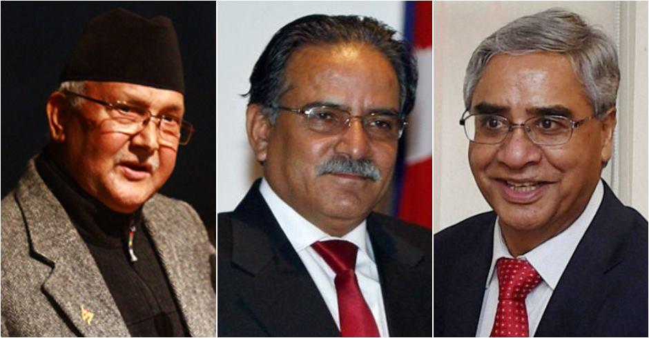तीन दलका शिर्ष नेताको बैठक बानेश्वरमा जारी