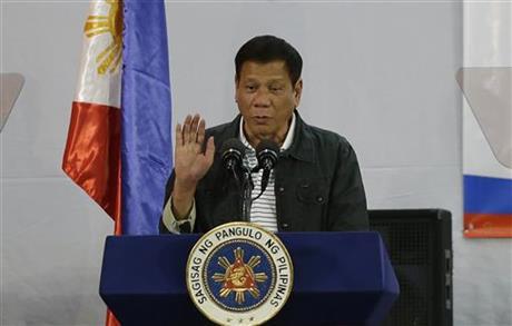 Rodrigo Duterte sworn in as new Philippine president