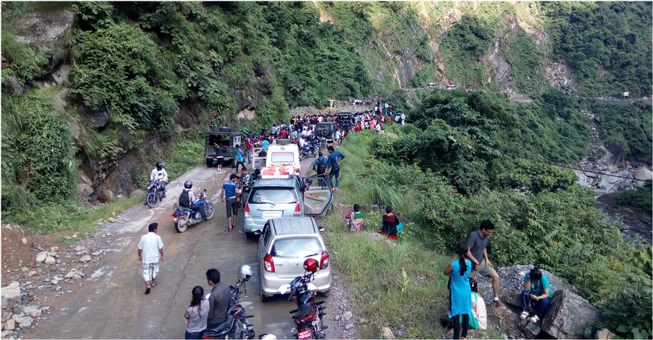 Siddhartha Highway disrupted since early this morning