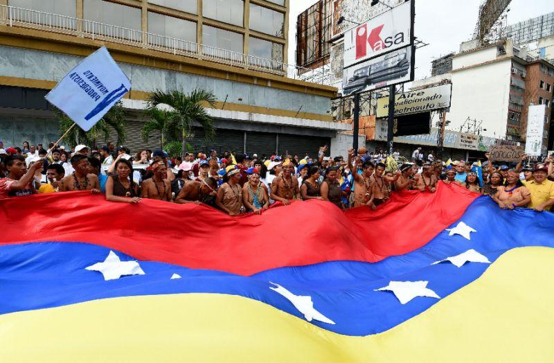 'Biggest demo in decades' pressures Venezuela president