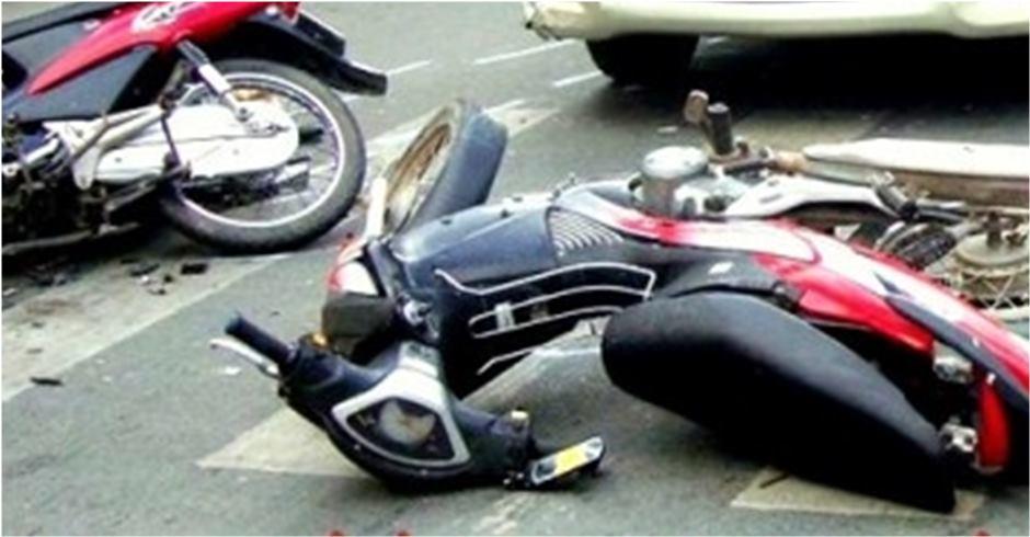 तनहुँमा तीन सवारी ठोक्कियोः श्रीमानको मृत्यु, श्रीमती घाइते