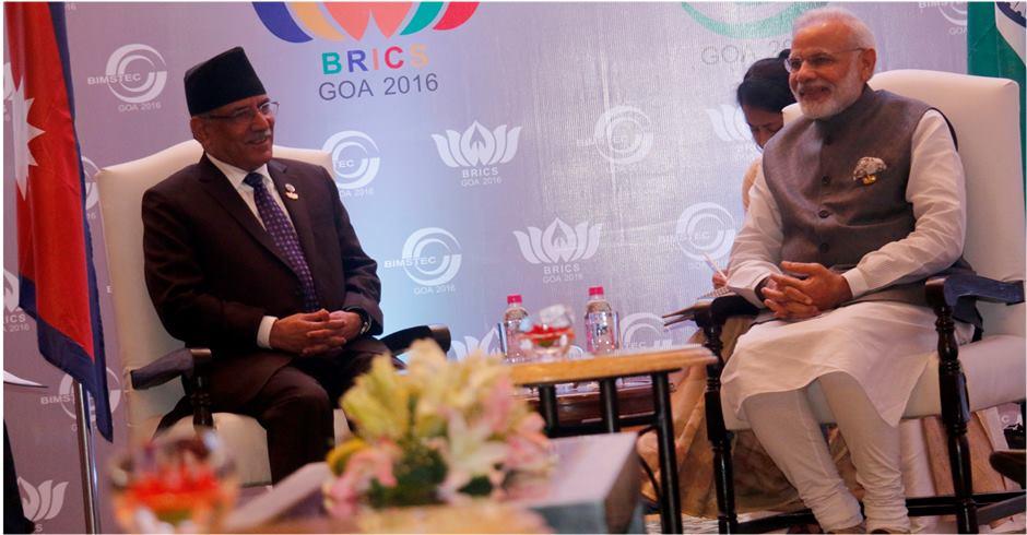 PM Dahal, Indian PM Modi discuss bilateral issues