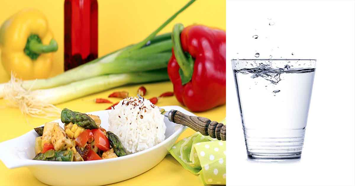 drinking water with meal