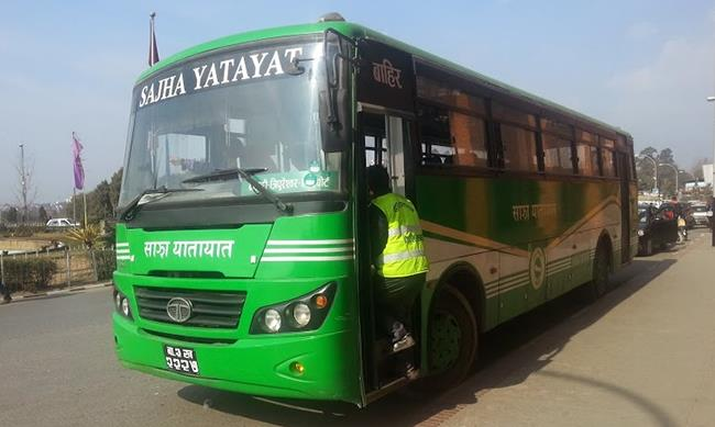 Bhaktapur bus entrepreneurs warn of not allowing Sajha bus service