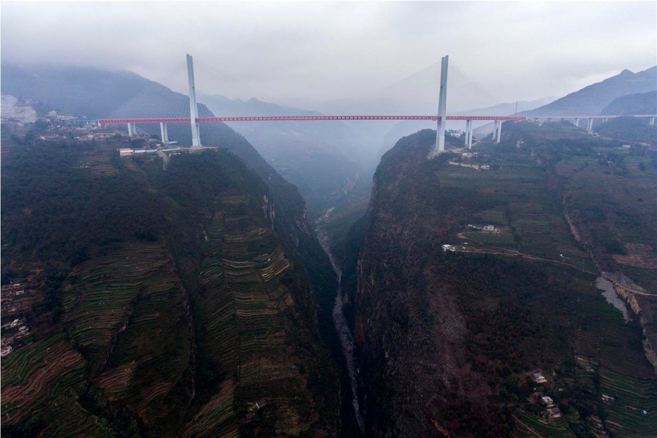 """World's Highest Bridge"" Opens in China Over 1,850-Foot Gorge (Video)"