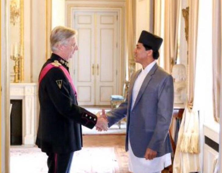 Nepal's ambassador to Belgium presents credentials