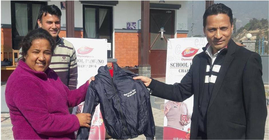 dabur-nepal-cloth-distribution