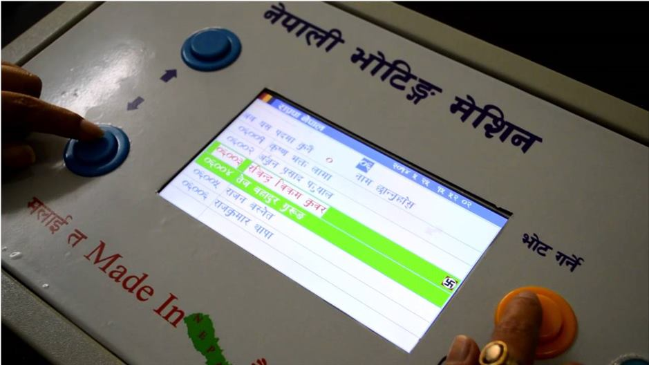 Demand to use electronic voting machine made in Nepal