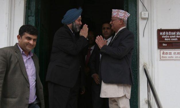 अध्यक्ष ओलीसँग भारतीय राजदूतको भेटवार्ता
