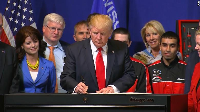 "Trump signs ""Buy American, Hire American"" executive order"