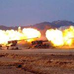 उत्तर कोरियाको आर्टिलरी ड्रिल, सेनाको वार्षिकोत्सव मनाउन लाइभ फायर अभ्यास