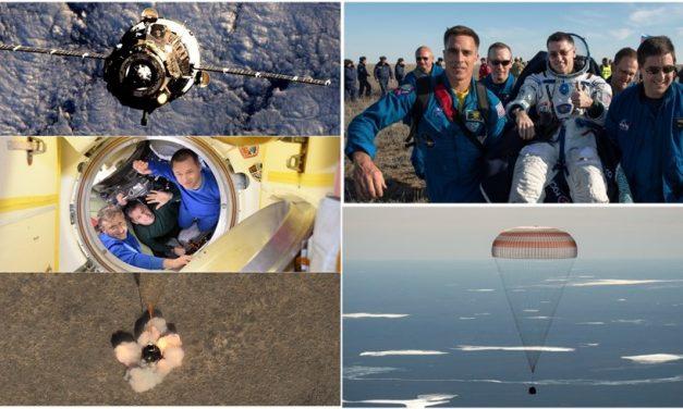 १७३ दिन लामो अन्तरीक्ष यात्रापछि ३ अन्तरीक्ष यात्री सकुशल पृथ्वीमा अवतरण, भिडियो हेर्नुस्
