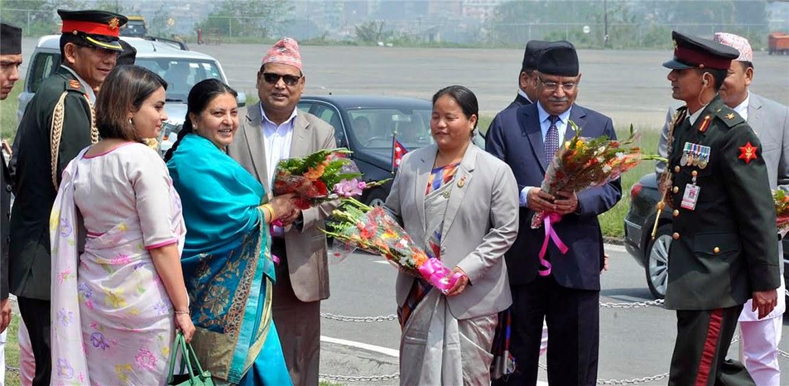 President Bhandari returns home after India State visit