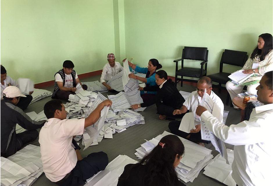काठमाडौंमा एमालेको झण्डै ४ हजारको अग्रता