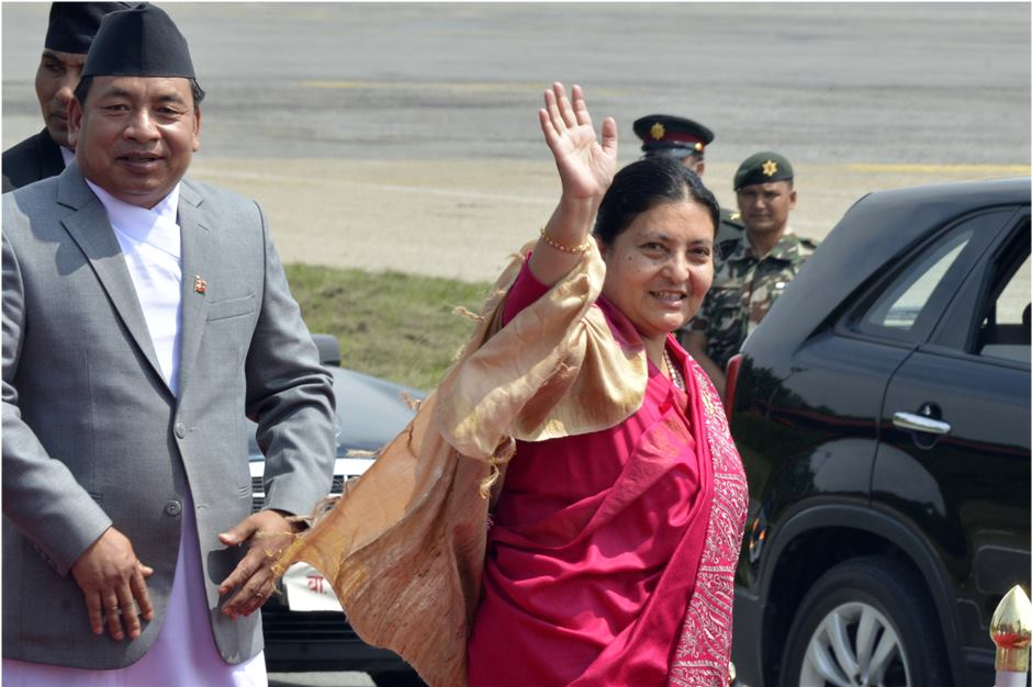 President Bhandari arrives in Xi'an