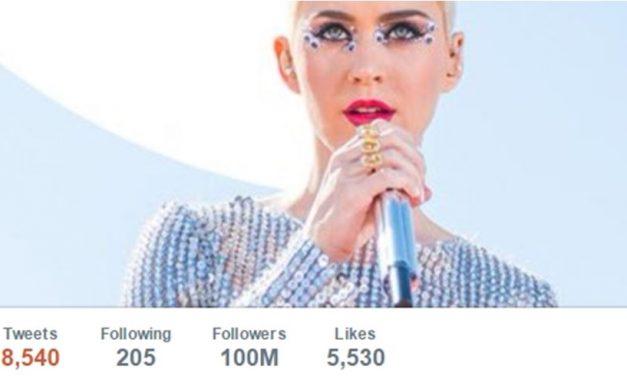 नयाँ रेकर्ड: ट्विटरमा केटी पेरीको १० करोड फलोअर, केटीपछि छन् यी गायक