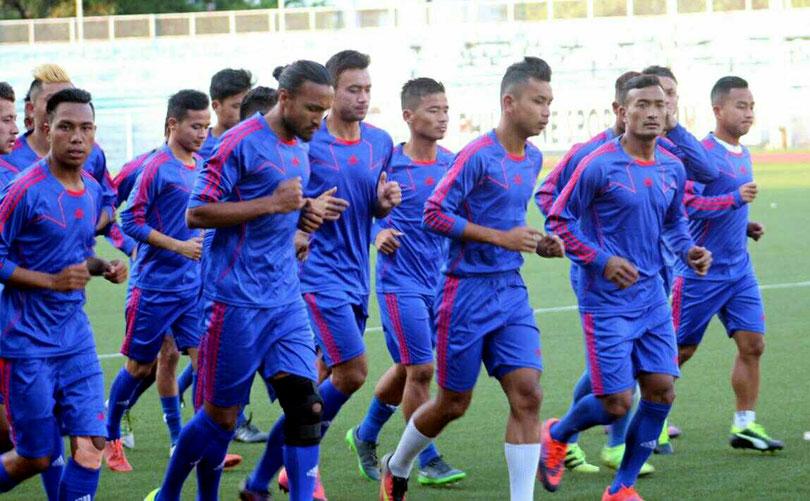 Nepali football squad to play against Tajikistan announced