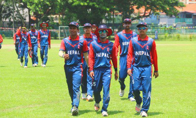 थाइल्याण्डविरुद्ध नेपाल विशाल रनअन्तरले विजयी, १० ओभरमा १० विकेट, बलिङमा सन्दिप नायक