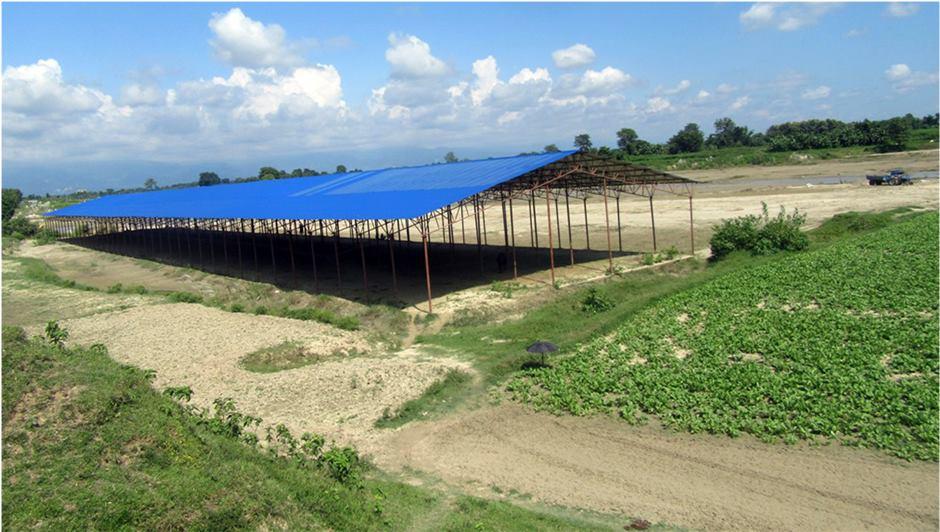 Waste processing plant under construction in Itahari