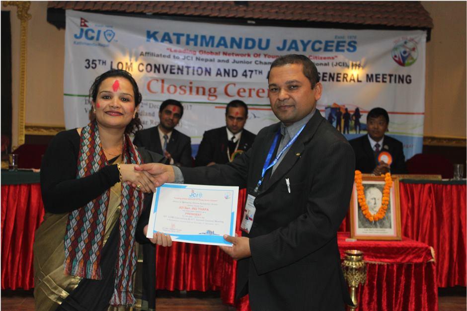काठमाडौँ जेसिजमा पहिलो पटक महिला अध्यक्ष निर्वाचित