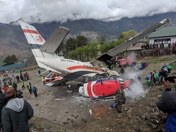 लुक्ला विमान दुर्घटनाः दुईजनाको मृत्यु भएको पुष्टि, एक घाइते