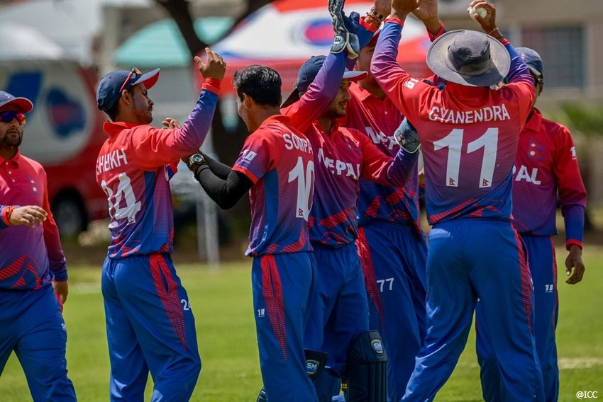 Nepal registers the first victory in ICC T20 World Cup Asia Qualifier