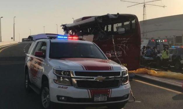 दुबईमा बस दुर्घटना, १७ जनाको मृत्यु