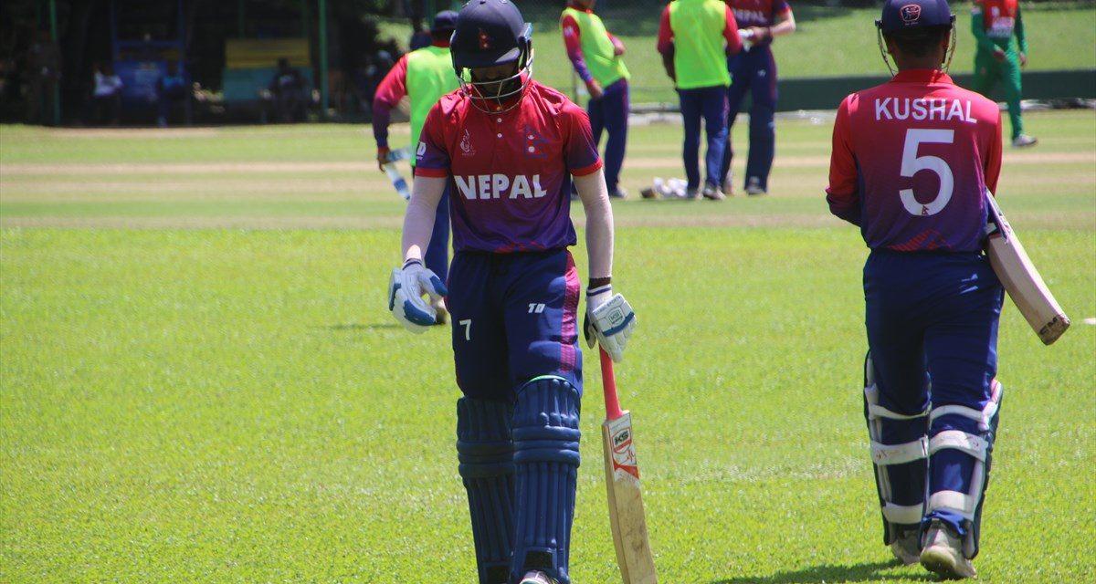 यू-१९ एशिया कप क्रिकेटः ؘदाेस्राे खेल हारेपछि नेपाल प्रतियाेगिताबाट बाहिरियाे