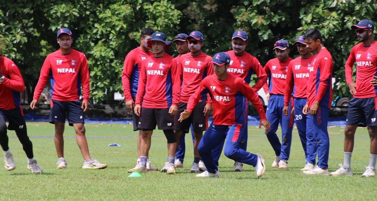 नेपाली युवा क्रिकेट टोली भोली काठमाडौं आइपुग्ने